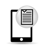 Smartphone screen document file design. Vector illustration eps 10 Royalty Free Stock Images