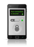 Smartphone secure connection Stock Image