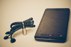 Smartphone security breach Royalty Free Stock Photography