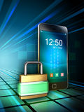 Smartphone security Stock Image