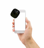 Smartphone with security tag Stock Image
