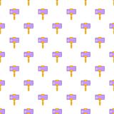 Smartphone and selfie stick pattern, cartoon style Royalty Free Stock Photography