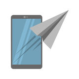 Smartphone sending email concept Royalty Free Stock Photography