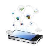 Smartphone Services idea conceptual map Stock Image