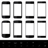 Smartphone shapes Stock Photography