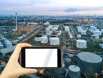 smartphone shooting concept. Oil refinery factory in Thailand Royalty Free Stock Image