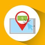 Smartphone shopping online money graphic. Vector illustration eps 10 Stock Image