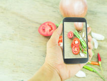 Smartphone shot vegetable photo Royalty Free Stock Image