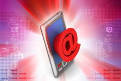 Smartphone showing  an e-mail symbol Royalty Free Stock Images
