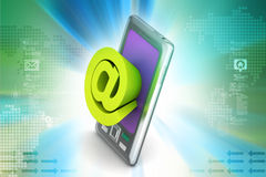 Smartphone showing  an e-mail symbol Royalty Free Stock Photography