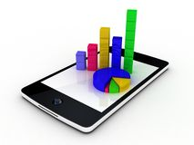 Smartphone showing a spreadsheet Stock Images