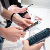 Smartphone showroom Stock Photo
