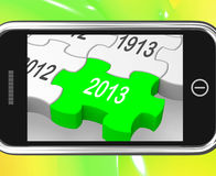 2013 On Smartphone Shows Next Year's Calendar Royalty Free Stock Photography