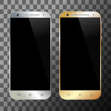 Smartphone silver gold Royalty Free Stock Image