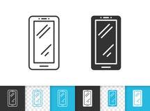 Smartphone simple black line vector icon royalty free illustration