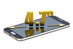 Smartphone skärm med 4 7 tum diagonalt Arkivbilder
