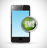 Smartphone and sms sign illustration Stock Photography