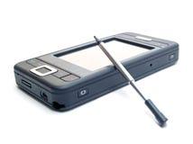 Smartphone sobre blanco Fotos de archivo