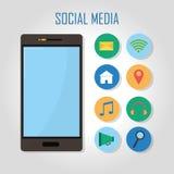 Smartphone and social media Royalty Free Stock Photo