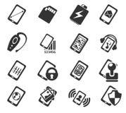 Smartphone, specificaties en functies Stock Afbeelding