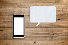 Smartphone with speech bubble Royalty Free Stock Images