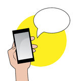Smartphone with speech bubble Royalty Free Stock Image