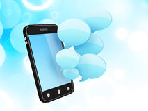 Smartphone with speech bubbles Royalty Free Stock Photo