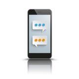 Smartphone Speech Bubbles Messenger Royalty Free Stock Photo