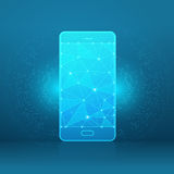 Smartphone of a starry sky or space Stock Images