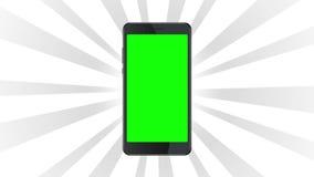 Smartphone statyczny szablon na białym wybuchu tle zbiory wideo