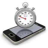 Smartphone Stopwatch Stock Photography