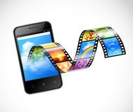 Smartphone With Streaming Video Illustration Royalty Free Stock Image