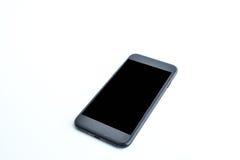Smartphone su priorità bassa bianca Fotografie Stock