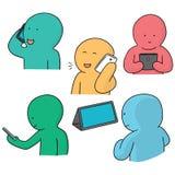 Smartphone-Sucht lizenzfreie abbildung