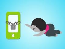 Smartphone-Suchtkonzept Lizenzfreie Abbildung