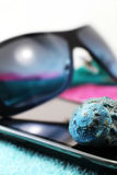 Smartphone and sunglasses, miniature style Stock Photography