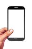 Smartphone sur le blanc avec le chemin Image stock