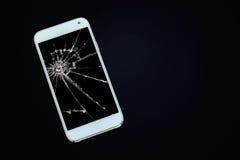Smartphone sur le Tableau en bois Image libre de droits