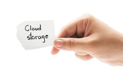 Smartphone surft auf Wolke im Himmel Lizenzfreie Stockfotografie