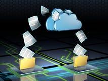 smartphone surft op wolk in hemel vector illustratie