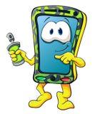 Smartphone sveglio del fumetto Immagine Stock Libera da Diritti