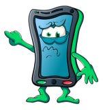 Smartphone sveglio del fumetto Fotografia Stock Libera da Diritti