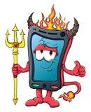 Smartphone sveglio del fumetto Immagini Stock