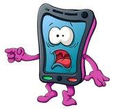 Smartphone sveglio del fumetto Fotografie Stock Libere da Diritti