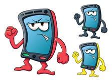 Smartphone sveglio del fumetto Fotografie Stock