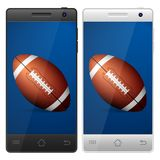 Smartphone football Royalty Free Stock Image