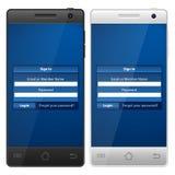 Smartphone login Stock Images