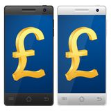 Smartphone pound Royalty Free Stock Photography