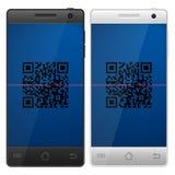 Smartphone QR code Stock Photo