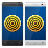 Smartphone target Royalty Free Stock Photography